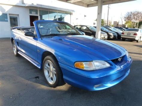 1998 mustang gt 4 6 buy used 1998 ford mustang gt convertible 4 6l five speed