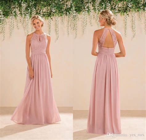 Pink Bridesmaid Dresses by 2016 New Dusky Pink Bridesmaid Dresses Cheap Neck