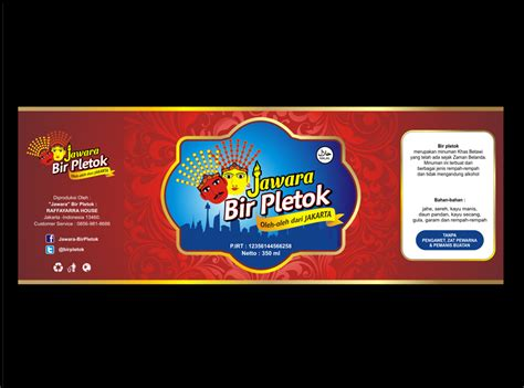 desain label minuman sribu label design desain label untuk minuman khas betawi