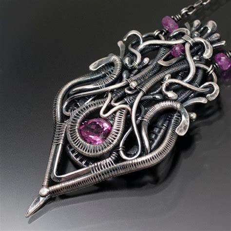 wire works jewelry woven wire work jewelry by sarahndippity the beading gem