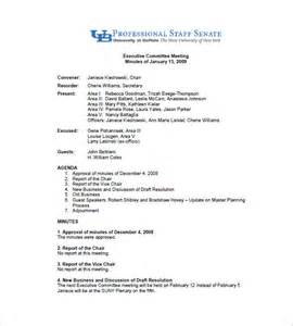 committee meeting minutes templates 11 free sle