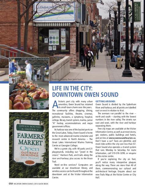 cineplex owen sound owen sound visitor guide 2013 greybruceescape magazine