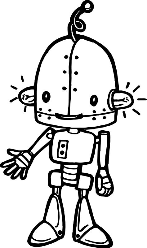 Ampule Cartoon Robot Coloring Page Wecoloringpage My As A Robot Coloring Pages