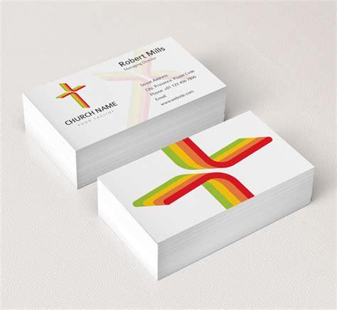 business cards cross templates church cross logo bcard template the design