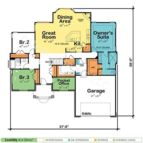 great kitchen floor plans borderline genius one story home plans abpho