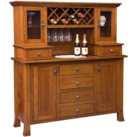buffet tables optional wine rack hutch amish sideboards