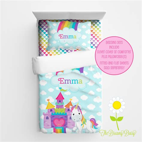 unicorn bedding for kids personalized unicorn bedding for kids unicorn duvet or