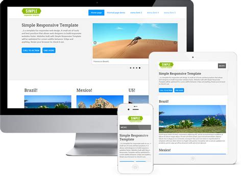 basic responsive html template simple responsive template