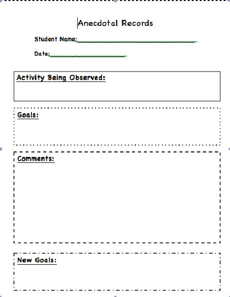 classroom arrangement observation classroom freebies and resources anecdotal notes