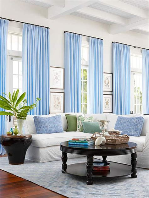 blue curtains for living room hanging curtains with valances newhairstylesformen2014 com