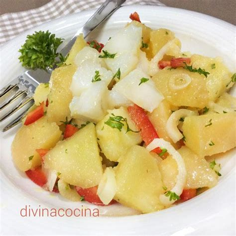 recetas de cocina con bacalao receta de ensalada de patatas con bacalao divina cocina