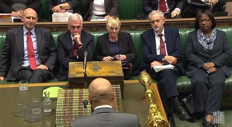 labour party front bench jeremy corbyn chairs first meeting of his shadow cabinet