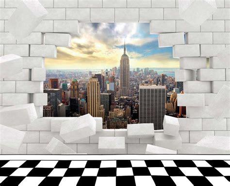 poster chambre ado cheap paysage derrire le trou dans le mur with poster pour
