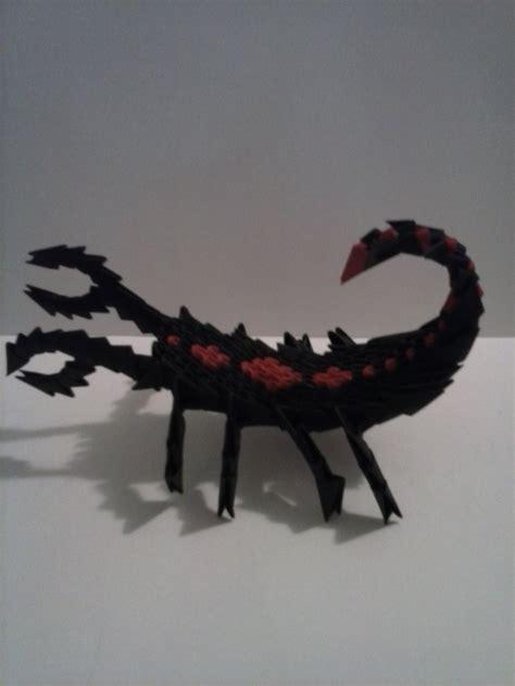 tutorial origami scorpion paper scorpion 3d origami pinterest scorpion 3d