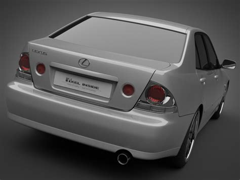 lexus models 2005 2005 lexus is200 3d model max obj 3ds lwo lw lws mtl