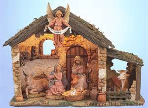 Fontanini 6 figure nativity set with lighted stable 54567