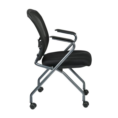 folding office chair canada osp deluxe nesting chair with breathable mesh back 2 pk