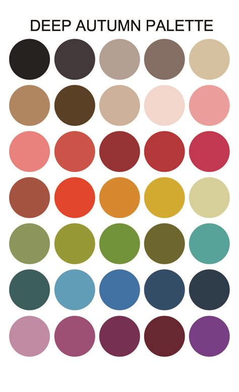 what is my color palette my autumn color palette of rich and vibrant