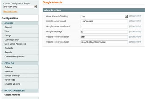 qt layout xml magento and google adwords conversion tracking