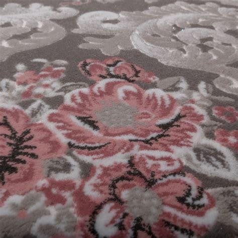 rosa teppich designer teppich edel hoch tief struktur glitzergarn