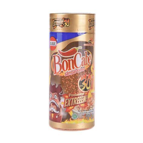 Sachet Boncabe Level 30 jual boncabe sambal tabur original level 30 40 g