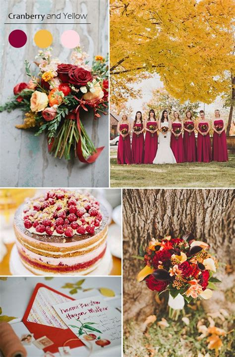 7 Ideas For A Fall Wedding by 25 Best Ideas About Cranberry Wedding On