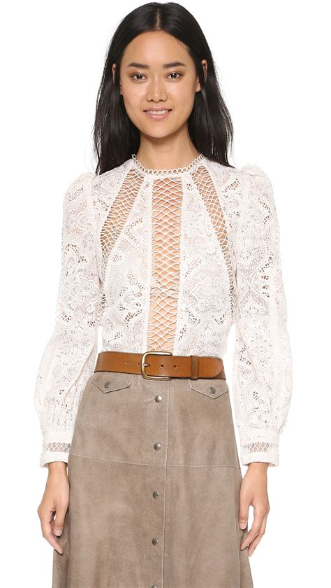 Embroidery Sabrina Blouse 5 zimmermann esplanade embroidered blouse in lyst