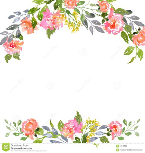 Flower Invitation Template watercolor floral card template from 43