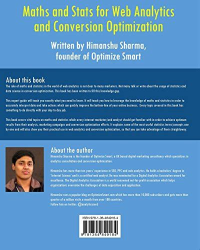 maths and stats for web analytics and conversion optimization books maths and stats for web analytics and conversion