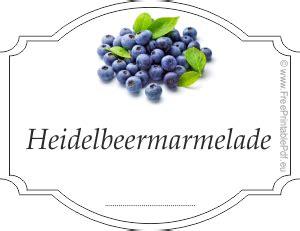 Etiketten Marmelade Free Download by Etiketten F 252 R Heidelbeermarmelade Pdf Drucken Kostenlos