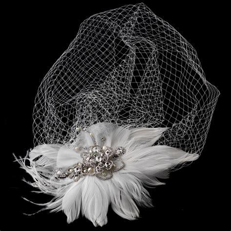 Feather Wedding Veil vintage feather bridal headpiece and veil bridal