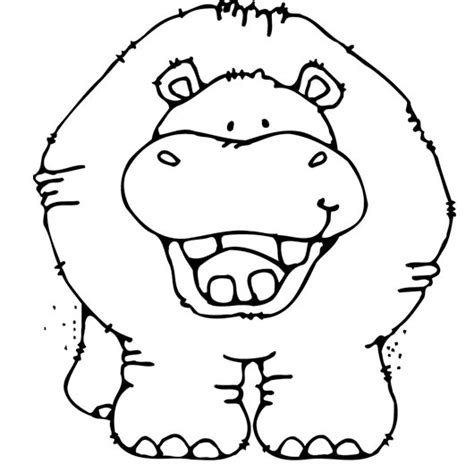 hippo face coloring page hippo coloring pages download