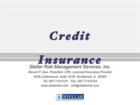 credit credit service provider how credit insurance reduces risk
