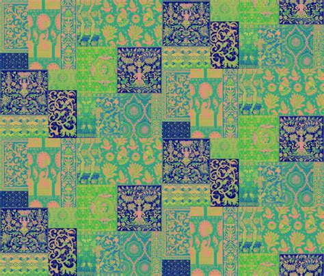 Henry Quilt Fabric by Henry Viii Was A Cheater Quilt Blue Psychedelic
