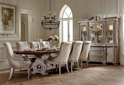 Dining Room Extension Table homelegance orleans ii trestle dining set white wash