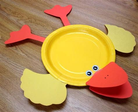 Duck Paper Plate Craft - ducks sunflower storytime
