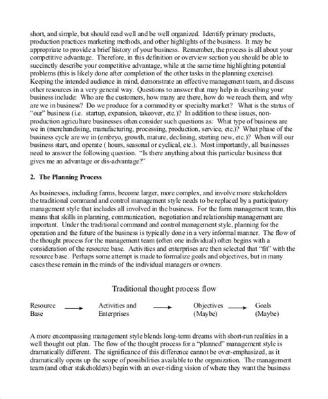 agriculture business plan template business plan template 14 free word pdf documents