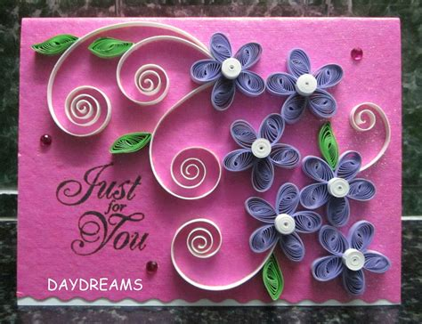 card with quilling daydreams june 2012