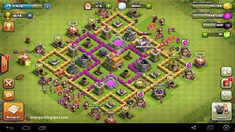 layout coc yang sulit ditembus desain trophy base th level 7 coc cepat meningkatkan