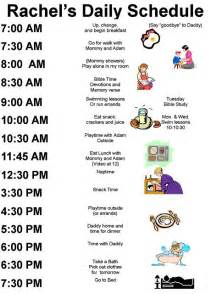 Child Care Daily Routine Template by Exles Daily Schedules Summer Activities