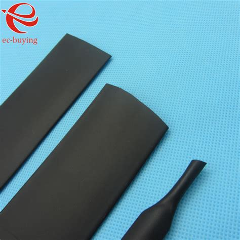 1m heat shrink tubing sleeving 30mm heatshrink black inner diameter wire wrap cable kit in