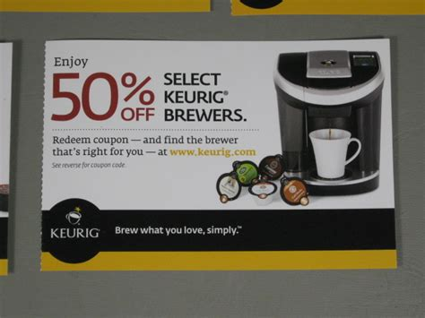 5 Keurig 50% Off Coupons For Coffee Brewer Maker Machines K Cup Vue Systems      eBay