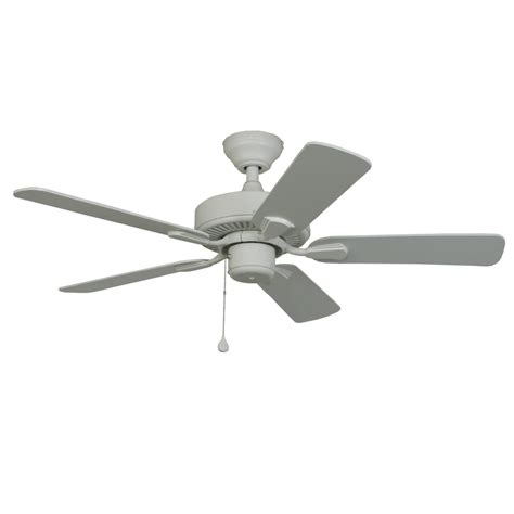 classic ceiling fans shop harbor breeze classic 42 in white outdoor downrod or