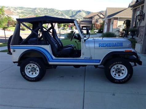 1985 Jeep Renegade Find Used 1985 Jeep Cj7 Renegade Cj 7 Low For The Yr