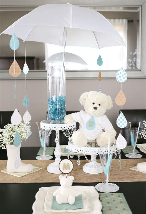 Raindrop Umbrella Baby Shower Centerpiece Project Baby Shower Umbrella Centerpieces