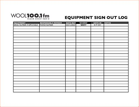 Equipment Sign Out Sheet Template by Monthly Sign In Sheet Template Admission Form For School