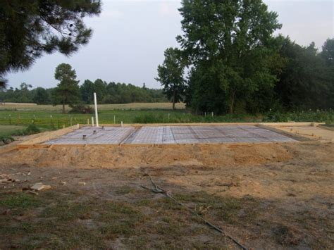 conventional slab  pole barn