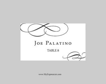 wedding place cards template for microsoft word wedding place cards template black calligraphic flourish