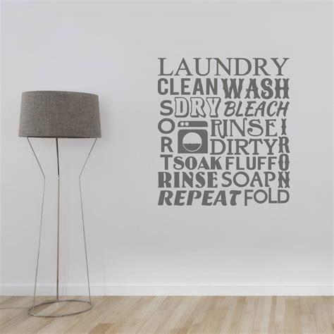 word wall stickers for bedrooms laundry room word cloud wall sticker by mirrorin notonthehighstreet com