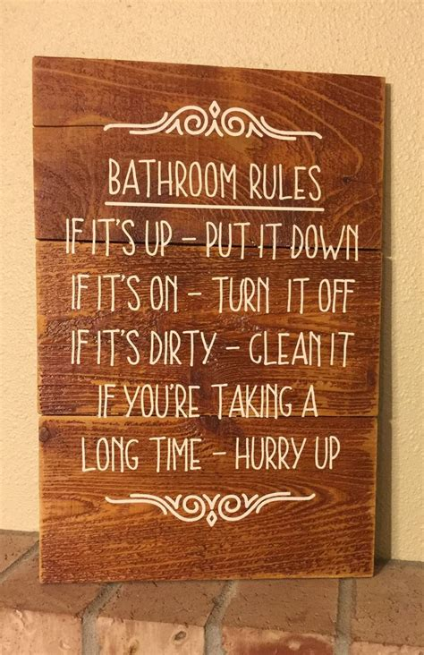 sayings for bathroom signs 25 best ideas about bathroom rules on pinterest